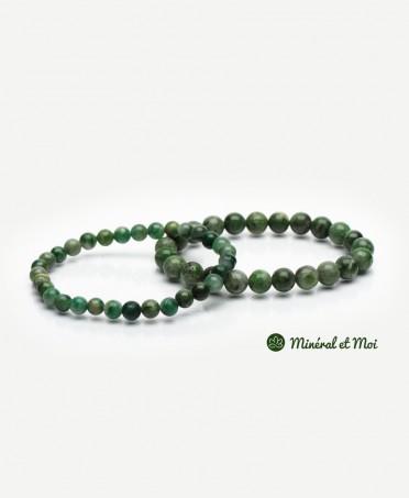 Bracelet Diopside Vert - 6mm