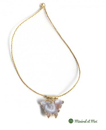 Collier Papillon Agate n°7