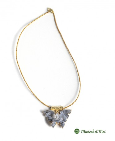 Collier Papillon Agate n°6