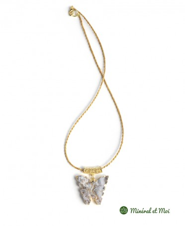 Collier Papillon Agate n°3