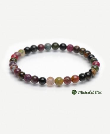 Bracelet Tourmaline Multicolore - 10mm