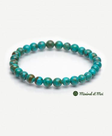 Bracelet Turquoise Du Tibet - 6mm