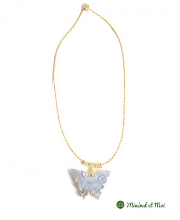 Collier Papillon Agate n°1