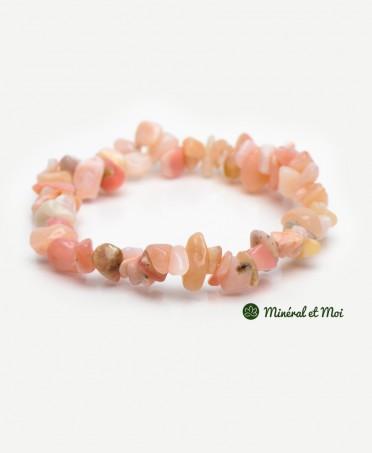 Bracelet  Opale Rose des Andes - Baroque