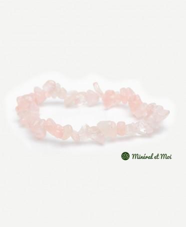 Bracelet Quartz Rose - Baroque