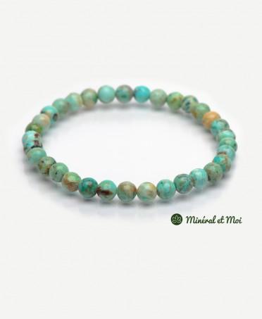 Bracelet Turquoise Du Pérou - 6mm