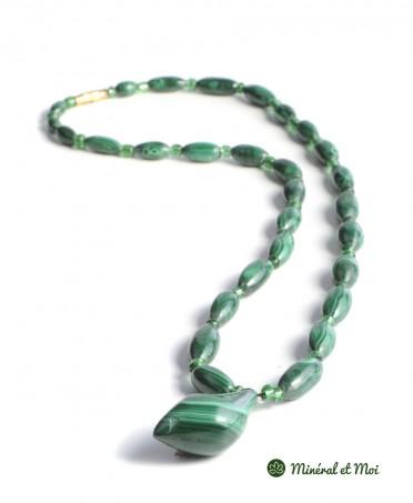 Collier Malachite - Perles et Gouttes