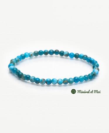 Bracelet Apatite Bleue - 4mm