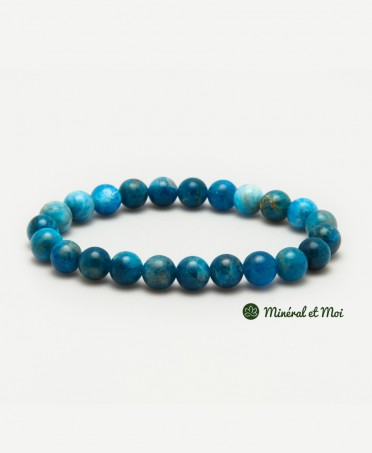 Bracelet Apatite Bleue - 8mm