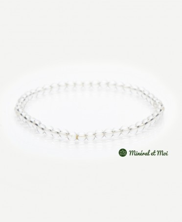 Bracelet Cristal de Roche - 4mm