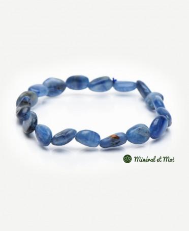Bracelet Cyanite Bleue - Galet