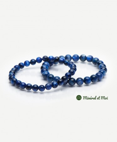 Bracelet Cyanite Bleue - 6mm