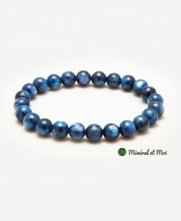 Bracelet Cyanite Bleue - 8mm