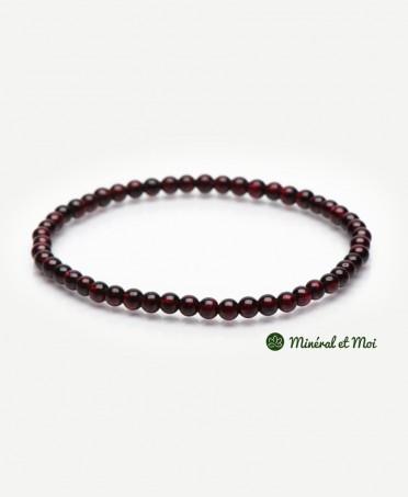 Bracelet Grenat Rouge - 4mm